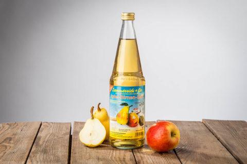 Apfel-Birnensaft klar